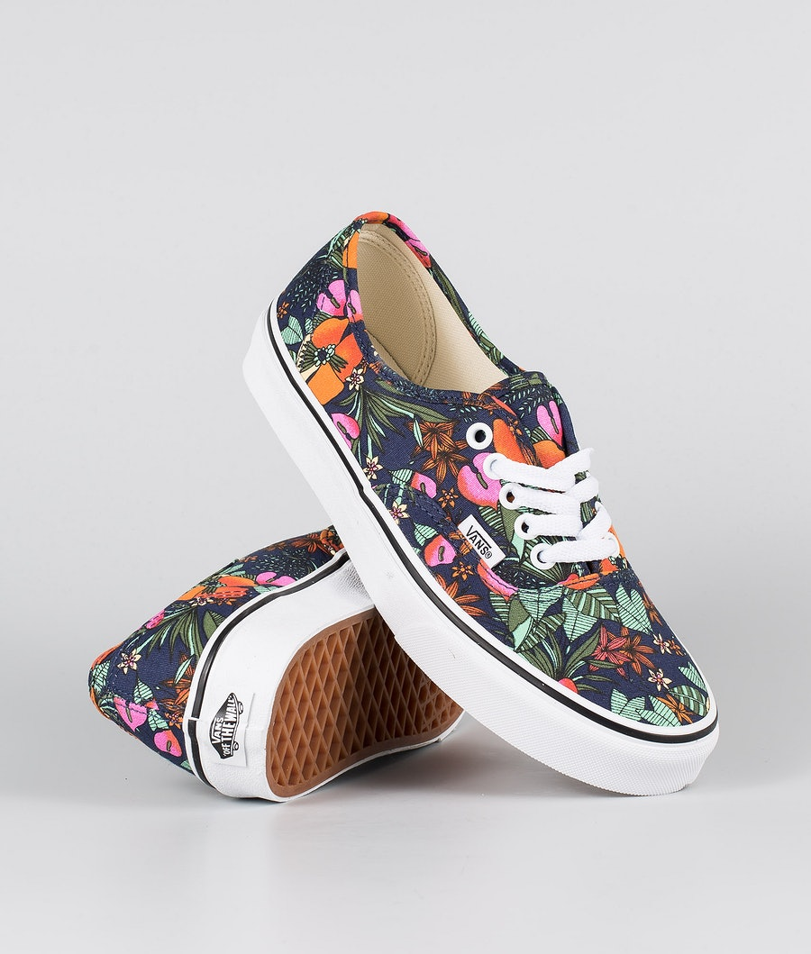 Vans Authentic Shoes (Multi Tropic)Dress Blue/True White