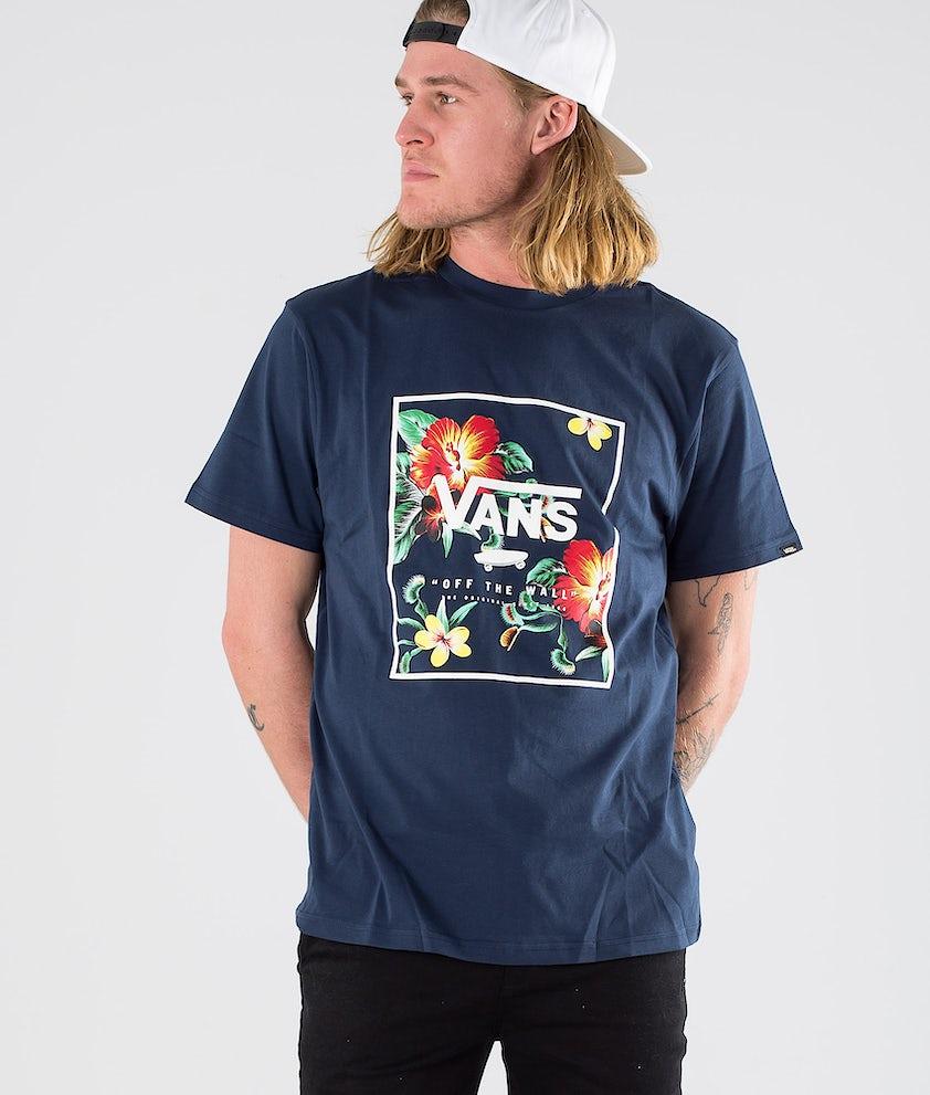 Vans Print Box SS T-shirt Dress Blue Trap Floral