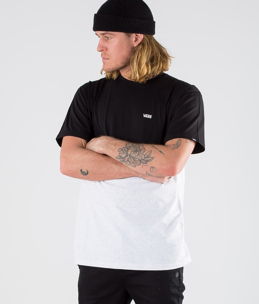 Vans Colorblock Tee T-Shirt Ash Heather/Black