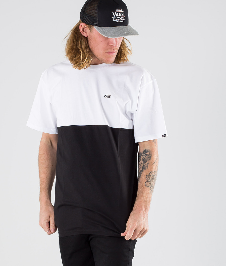 Vans Colorblock Tee T-paita Black/White