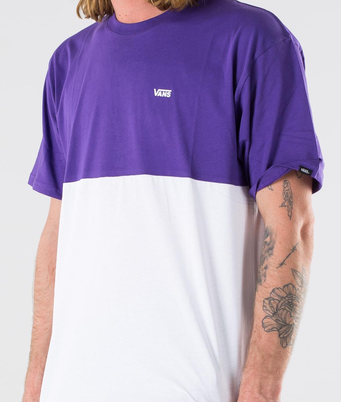 Vans Colorblock Tee T shirt WhiteHeliotrope