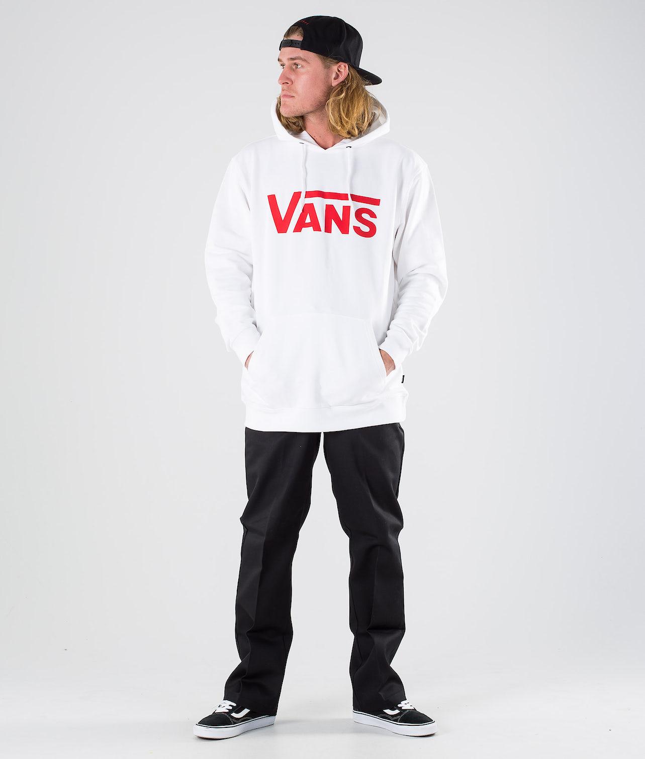 Vans Classic PO Hoodie II Hood White/Racing Red