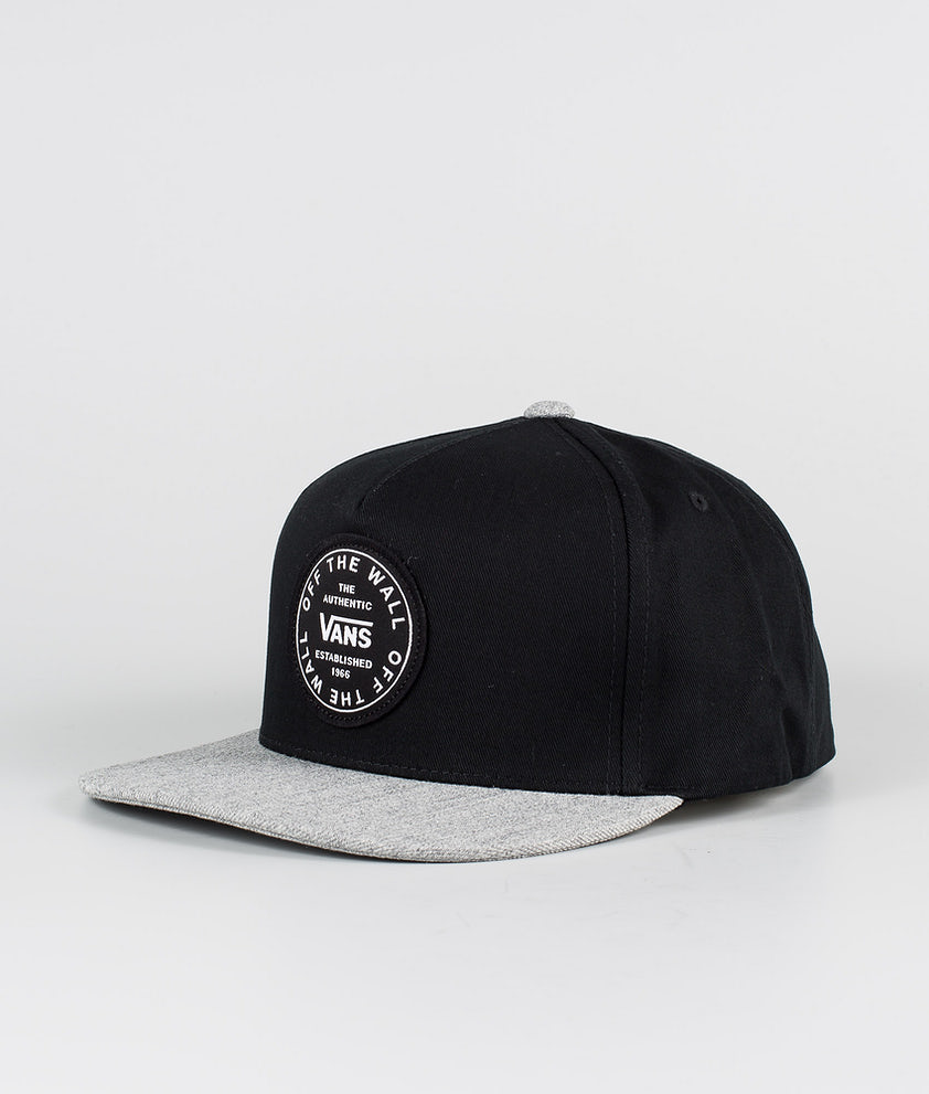 Vans Old Skool Circle Snapback Caps Black/Heather Grey