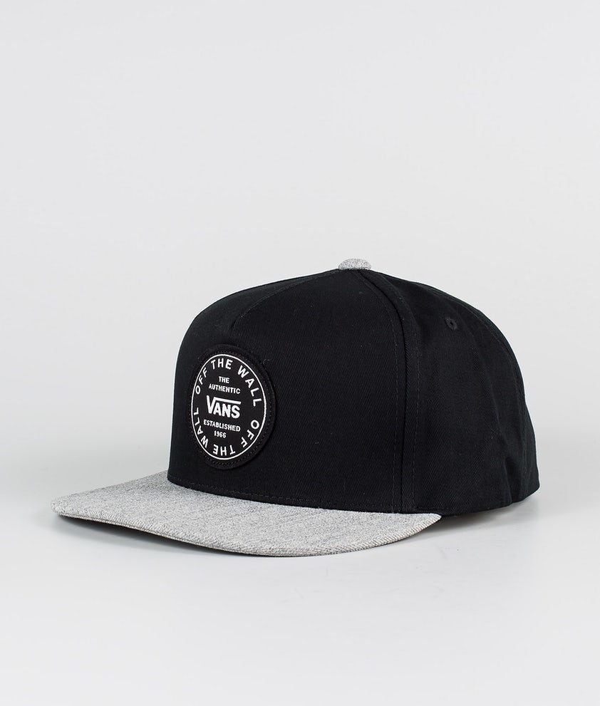 Vans Old Skool Circle Snapback Caps Black/Heather Grey