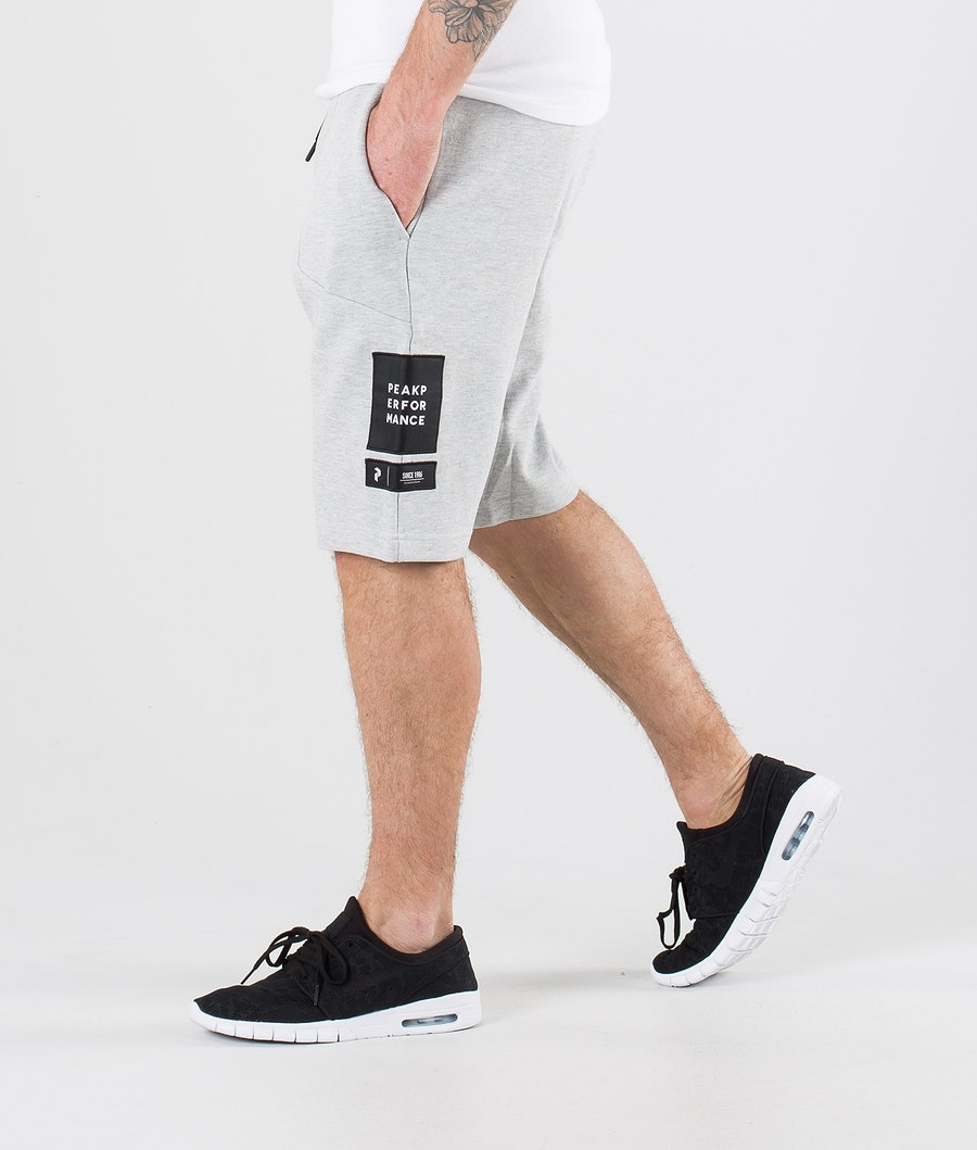Peak Performance Tech Shorts Med Grey Mel