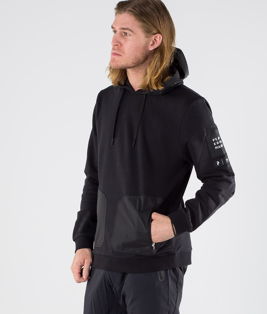 Peak Performance 2.0 oven/Jersey Hoodie Hood Black