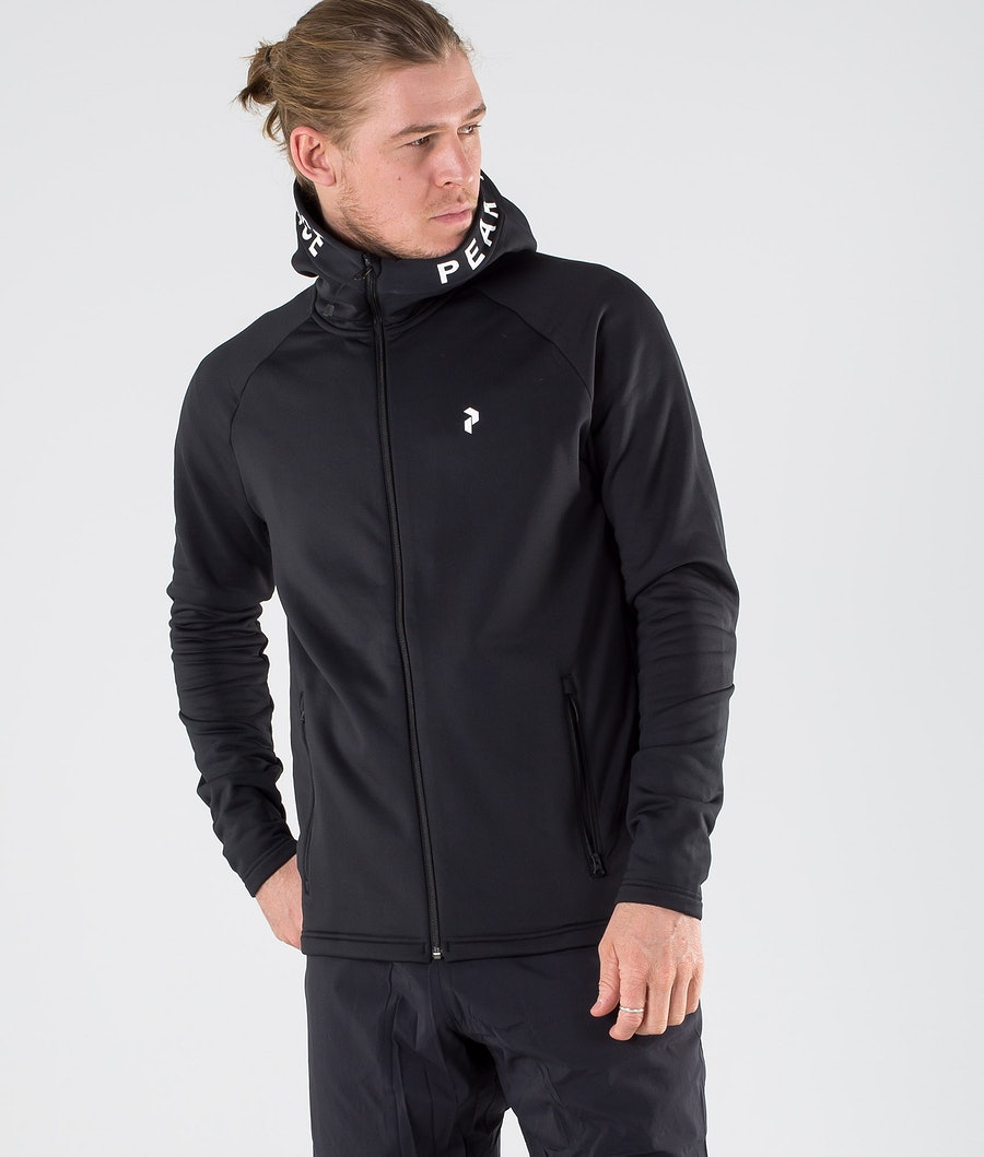 Peak Performance Rider Zip Capuche Black
