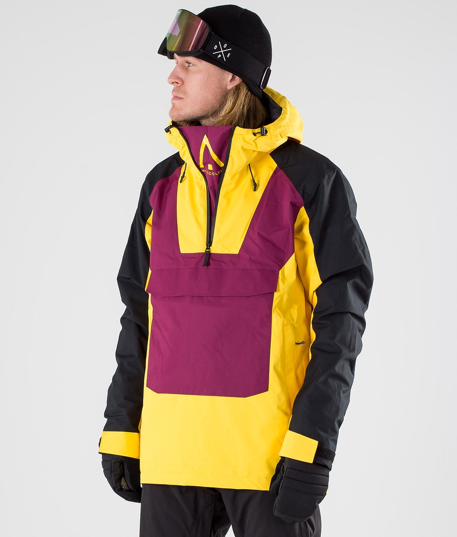WearColour Wear Anorak Snowboard Jacket Daffodil