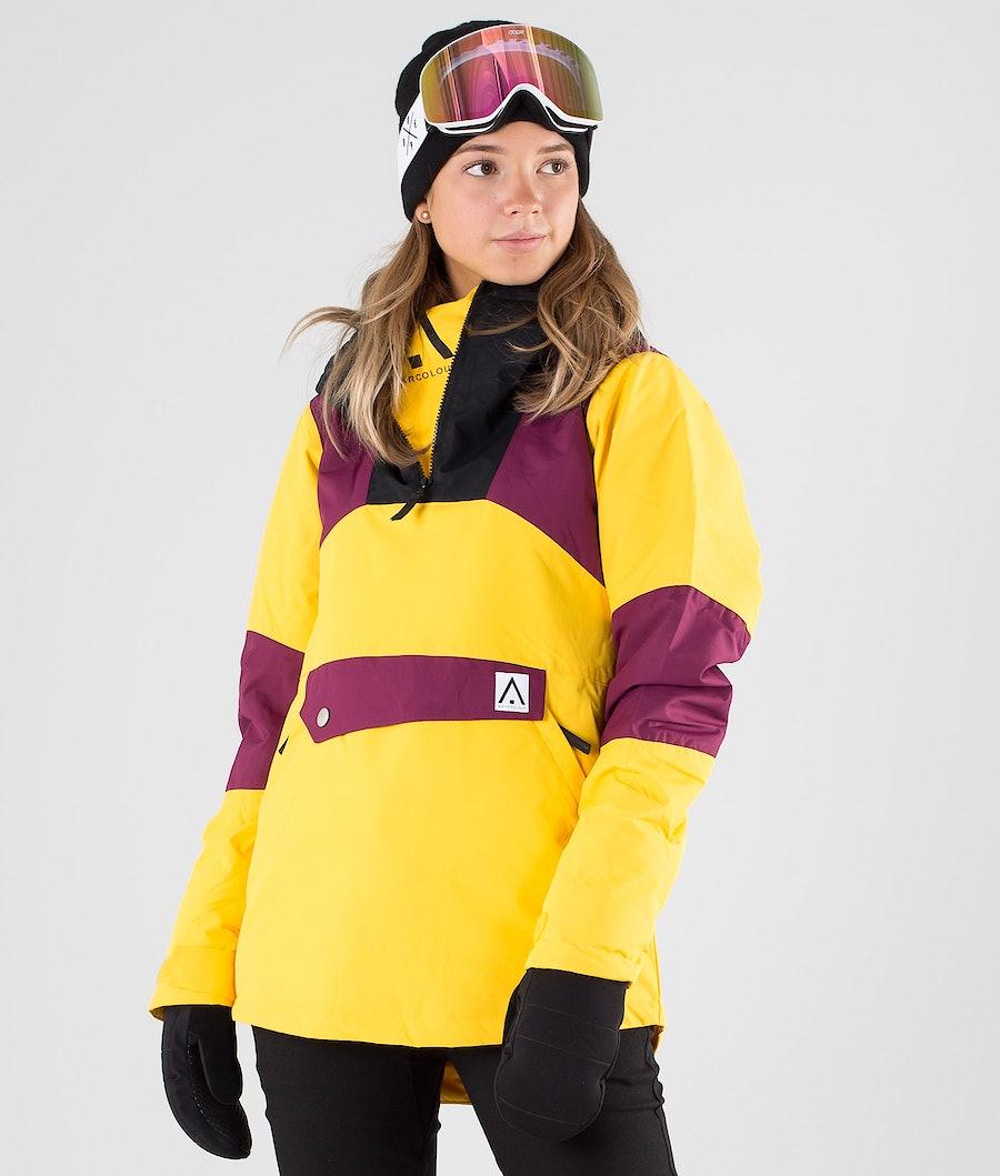 WearColour Homage Anorak Giacca da Snowboard Daffodil