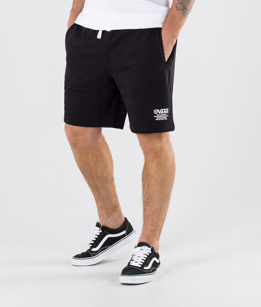 Vans Distort Type Fleece  Shorts Black