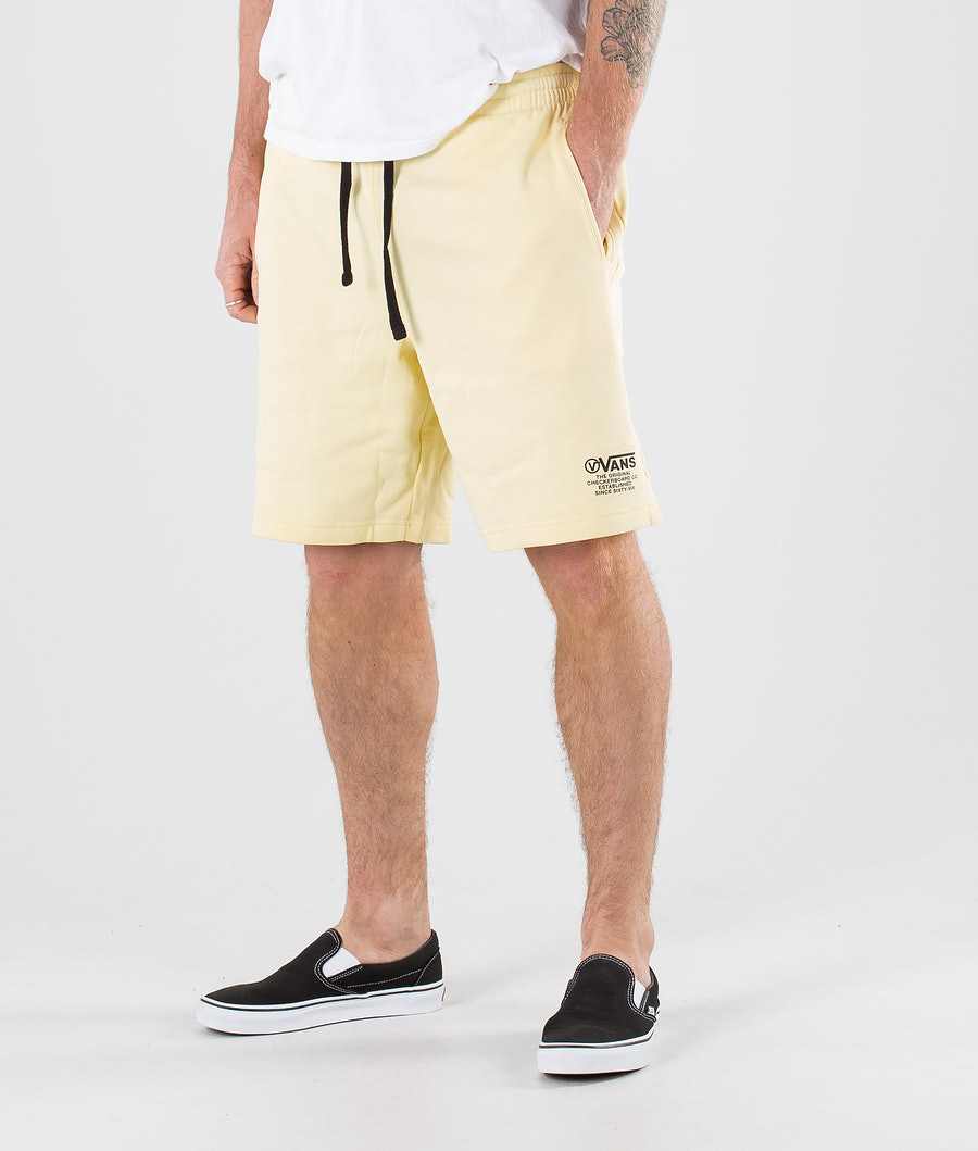 Vans Distort Type Fleece  Shorts Double Cream