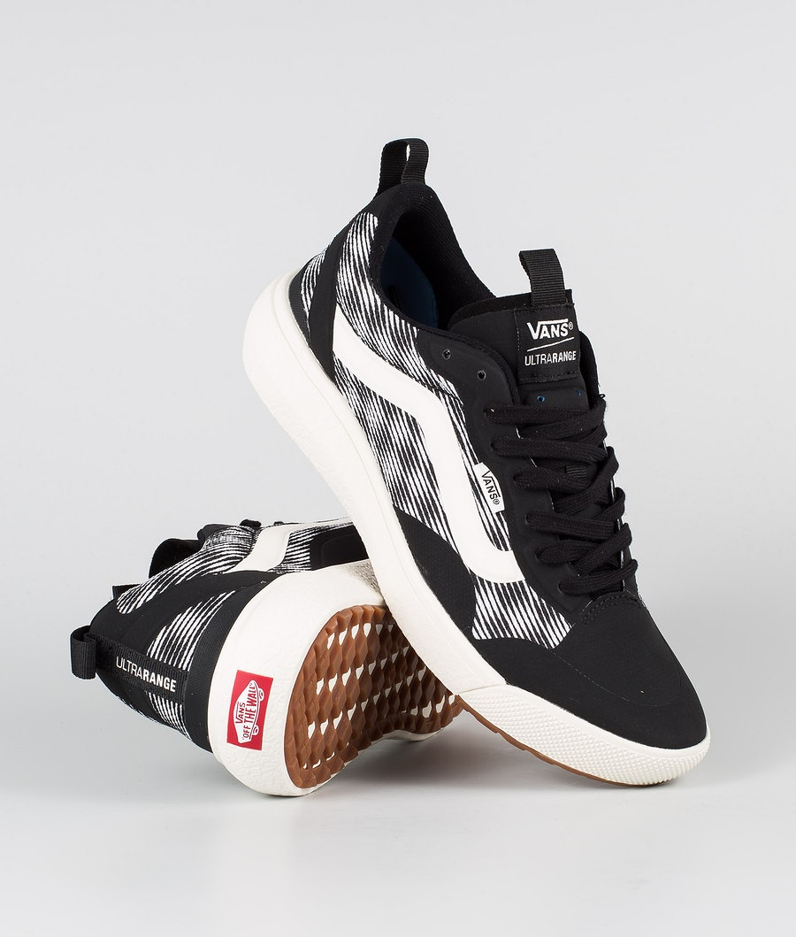 Vans UltraRange EXO Schoenen (Blur Checker)Black/Marshmelow