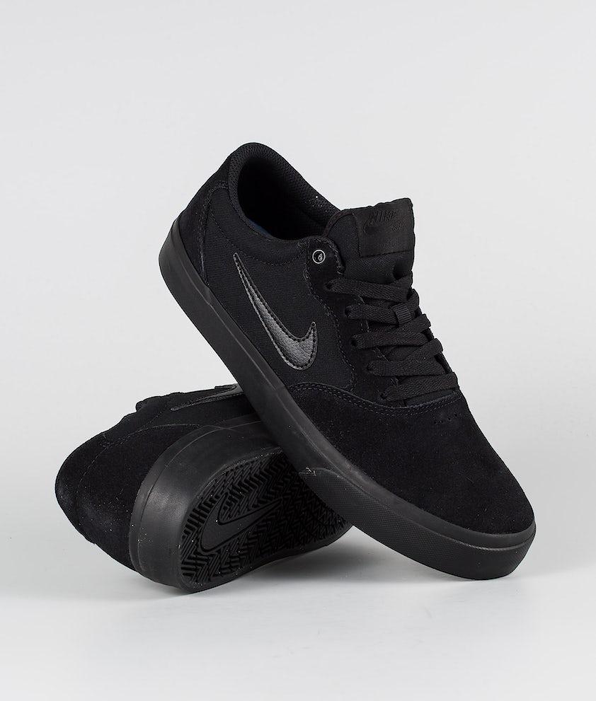 Nike SB Chron SLR Sko Black/Black-Black-Black