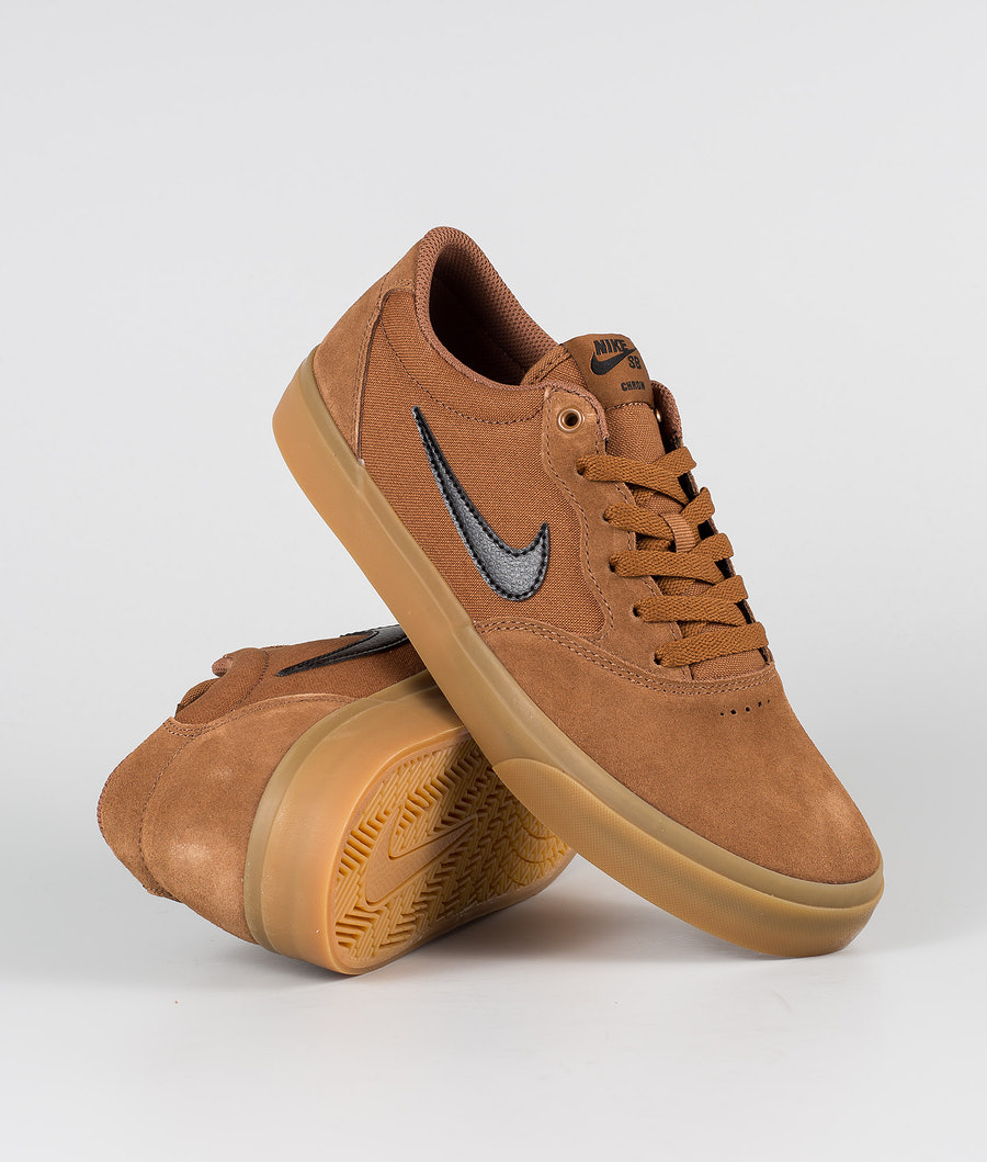 Nike SB Chron SLR Shoes Lt British Tan/Black Gum Light Brown