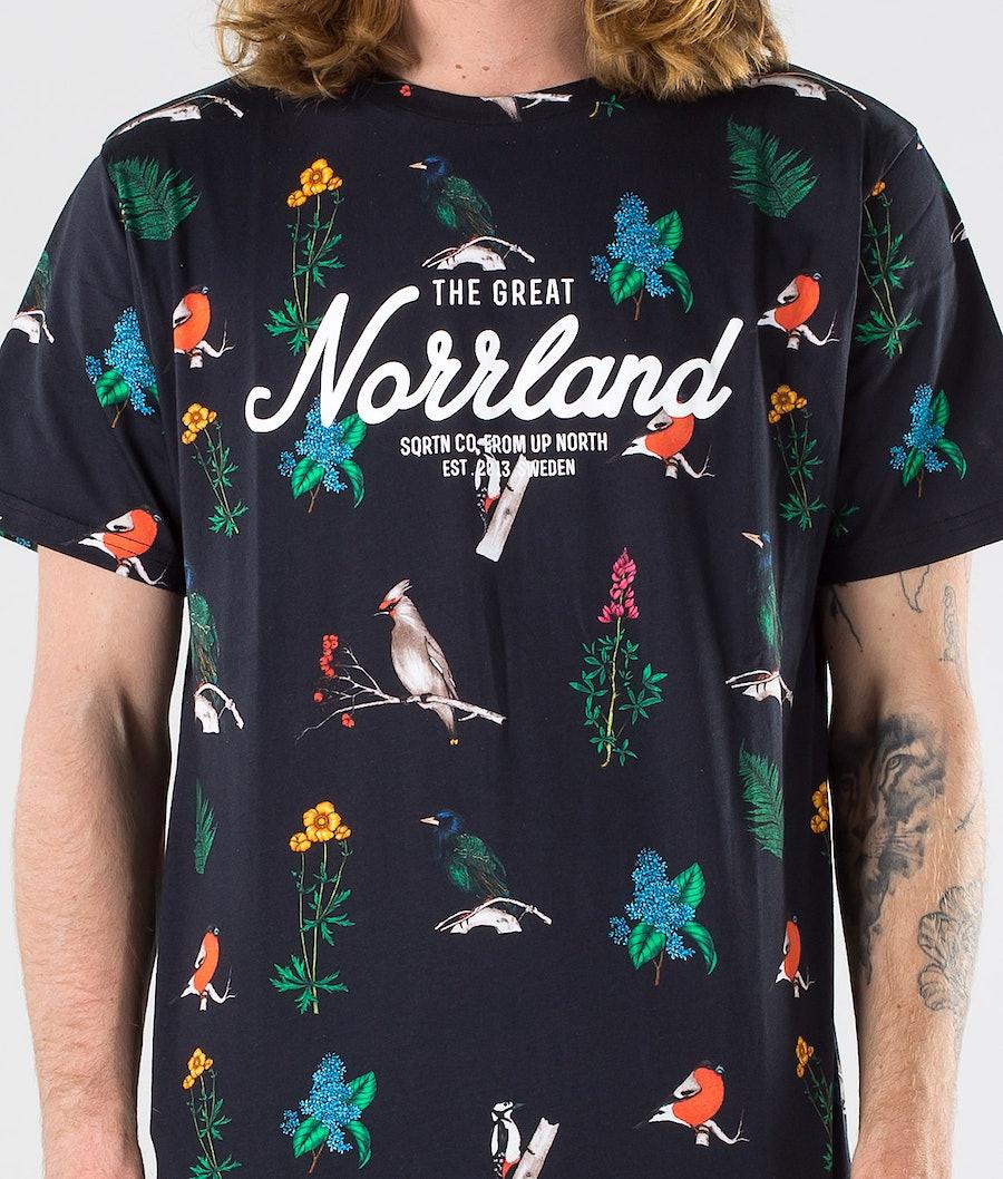 SQRTN Great Norrland T-shirt Bird Black