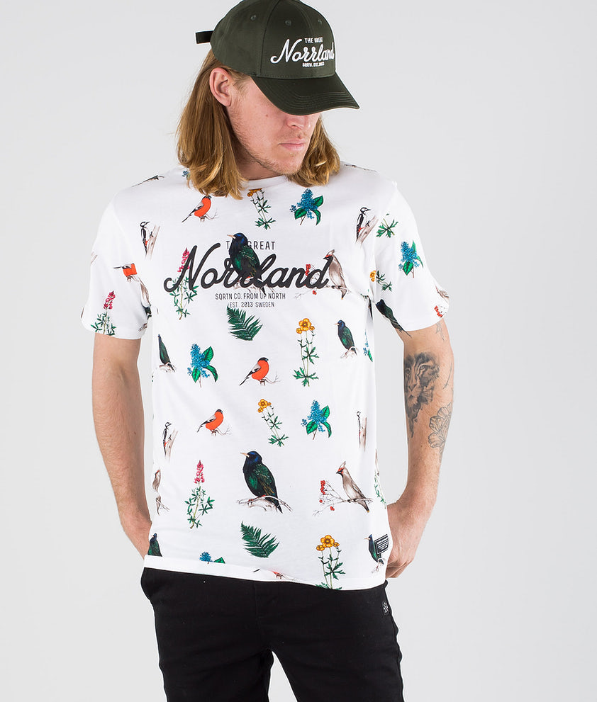 SQRTN Great Norrland T-shirt Bird White