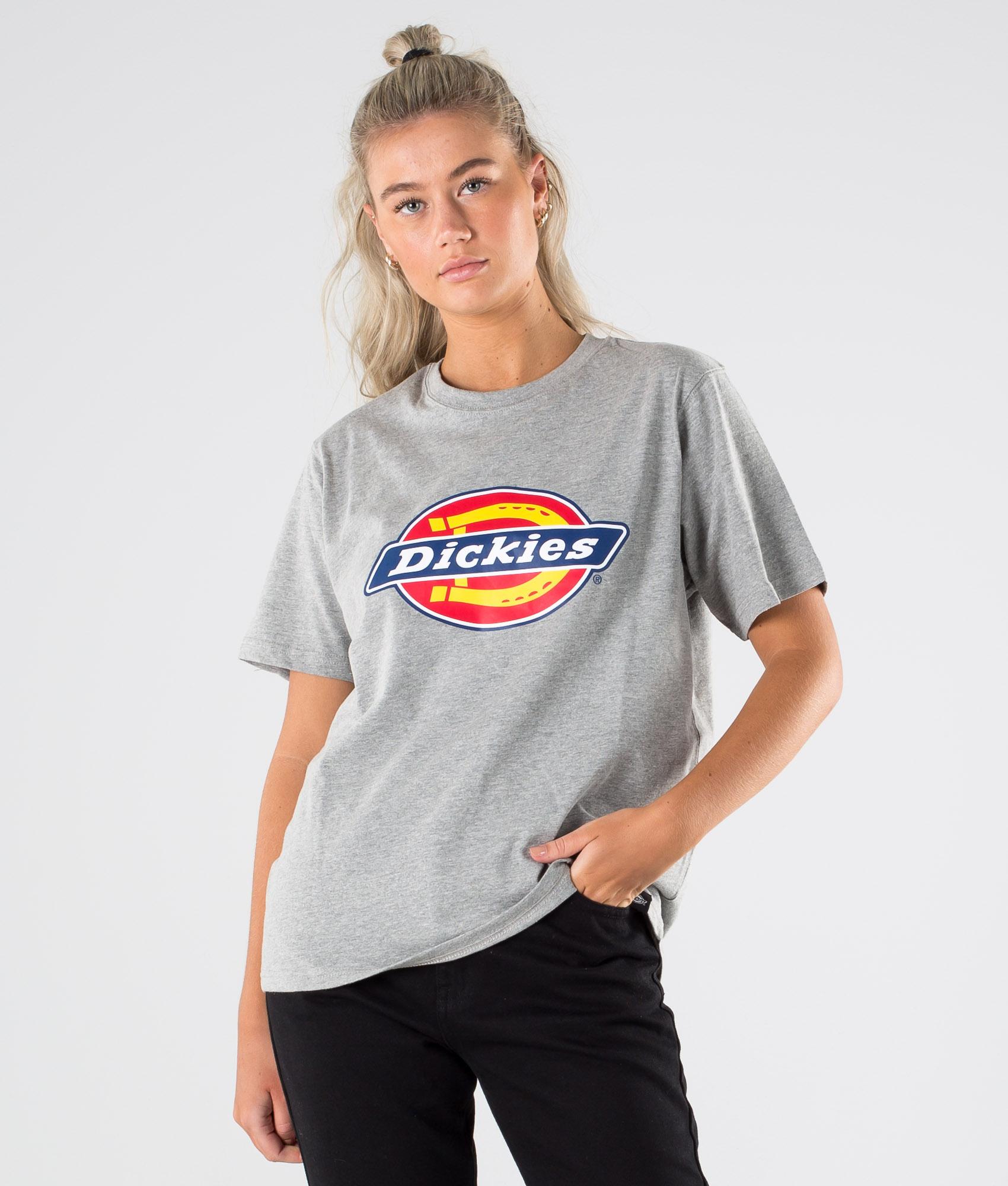 Dickies Horseshoe Tee T shirt Grey Melange Ridestore.no