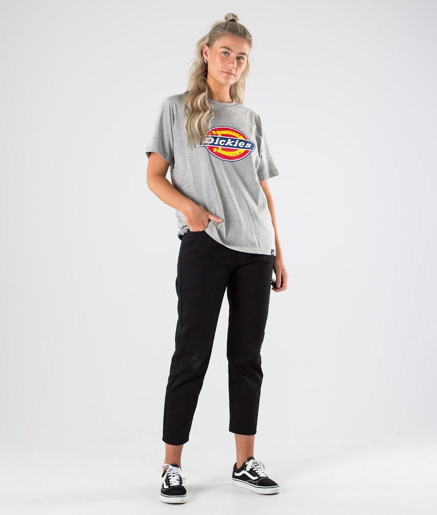 Dickies Horseshoe Tee T-shirt Dame Grey Melange