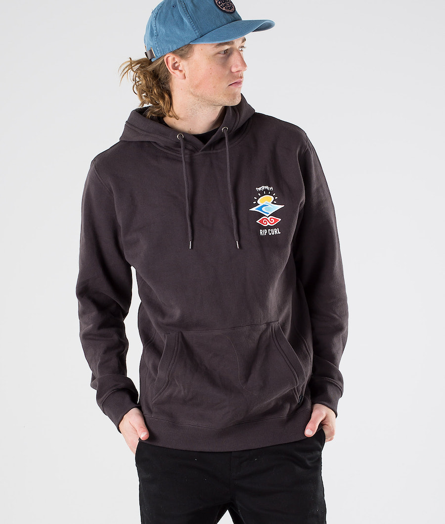 Rip Curl Search Icon Hood Hoodie Washed Black