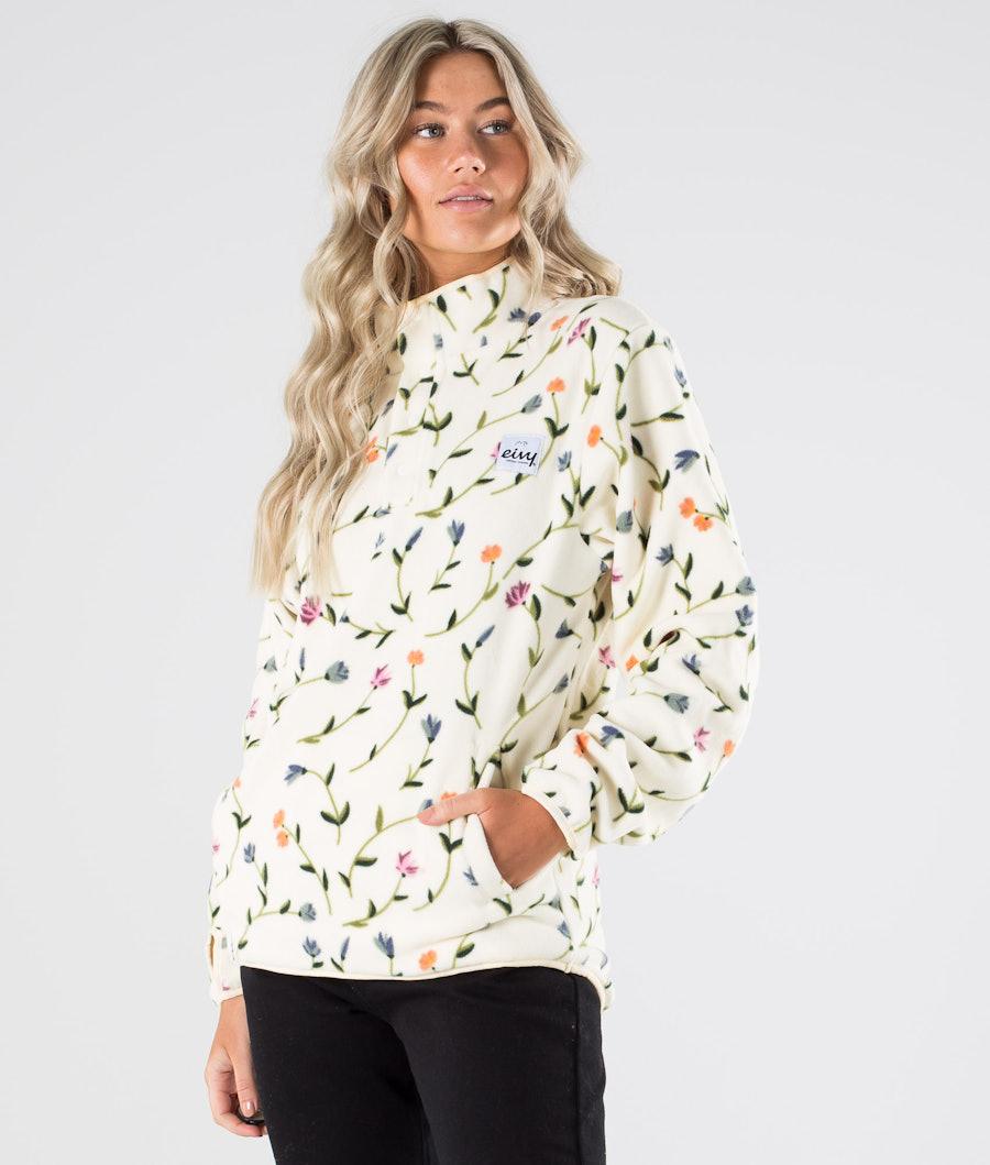 Eivy Mountain  Fleece Sweater Dangling Florals