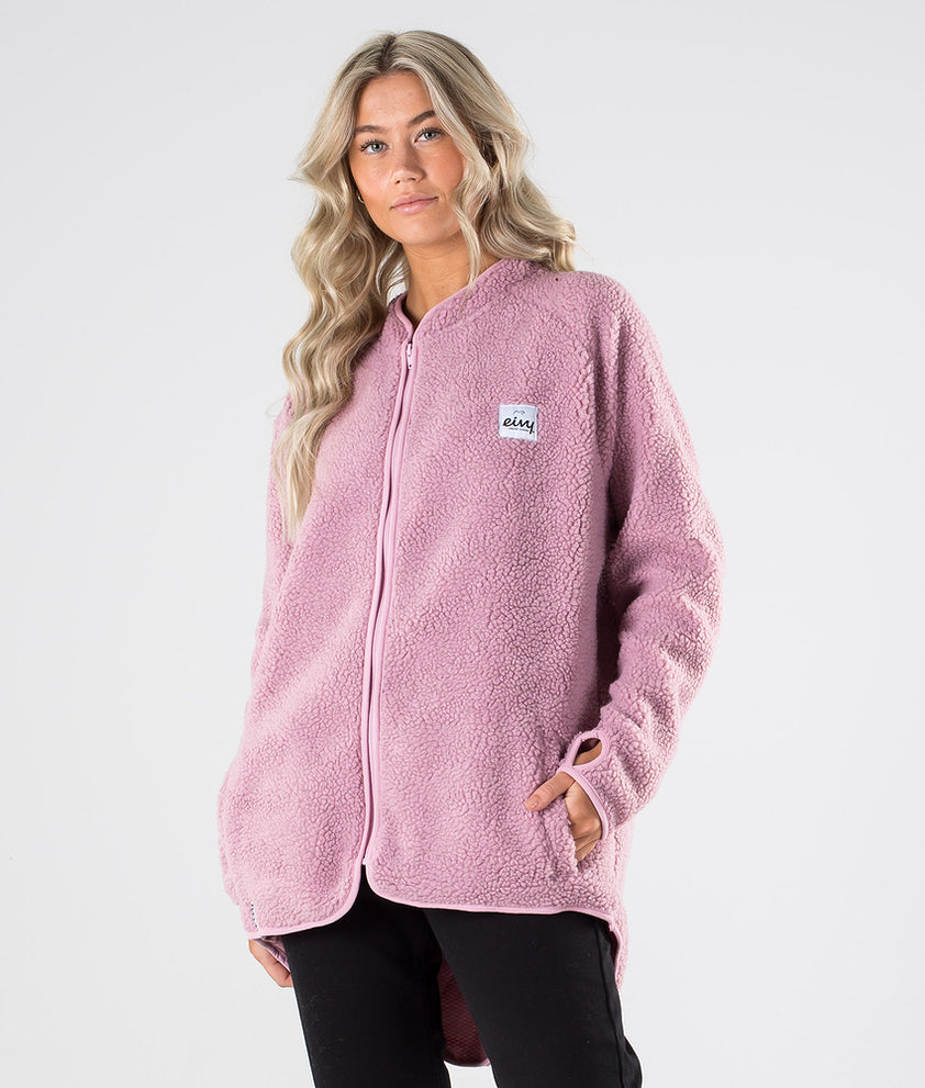 Eivy Redwood Sherpa Jacket Pitkähihainen Faded Pink