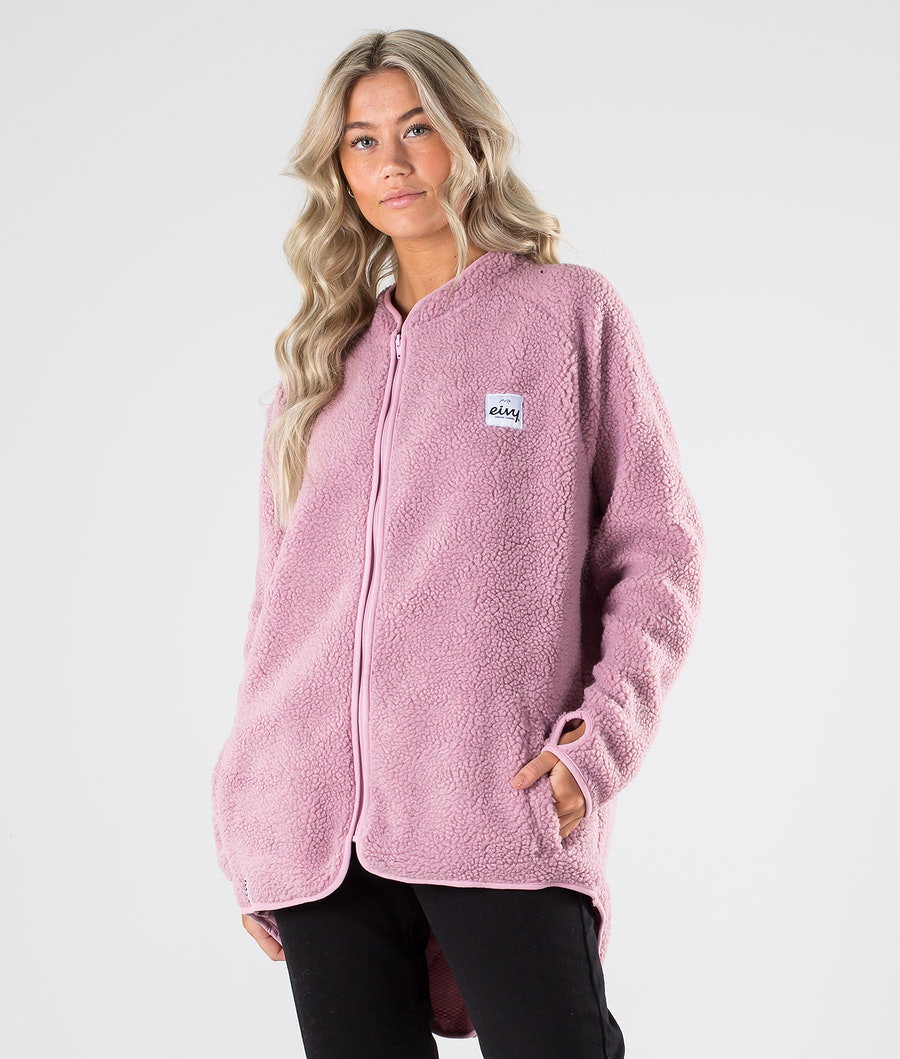 Eivy Redwood Sherpa Jacket Sweatshirt Faded Pink