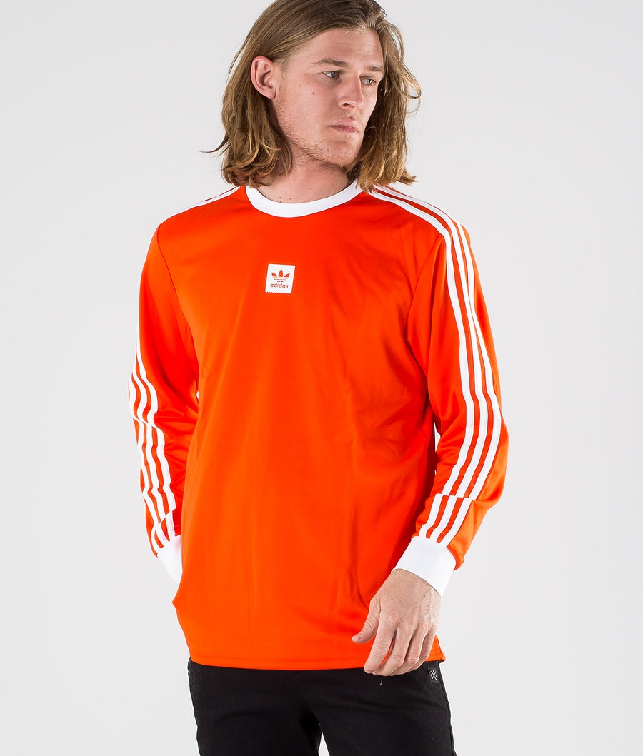 Adidas Skateboarding Ls Club Jersey Longsleeve Active Orange Mel/White