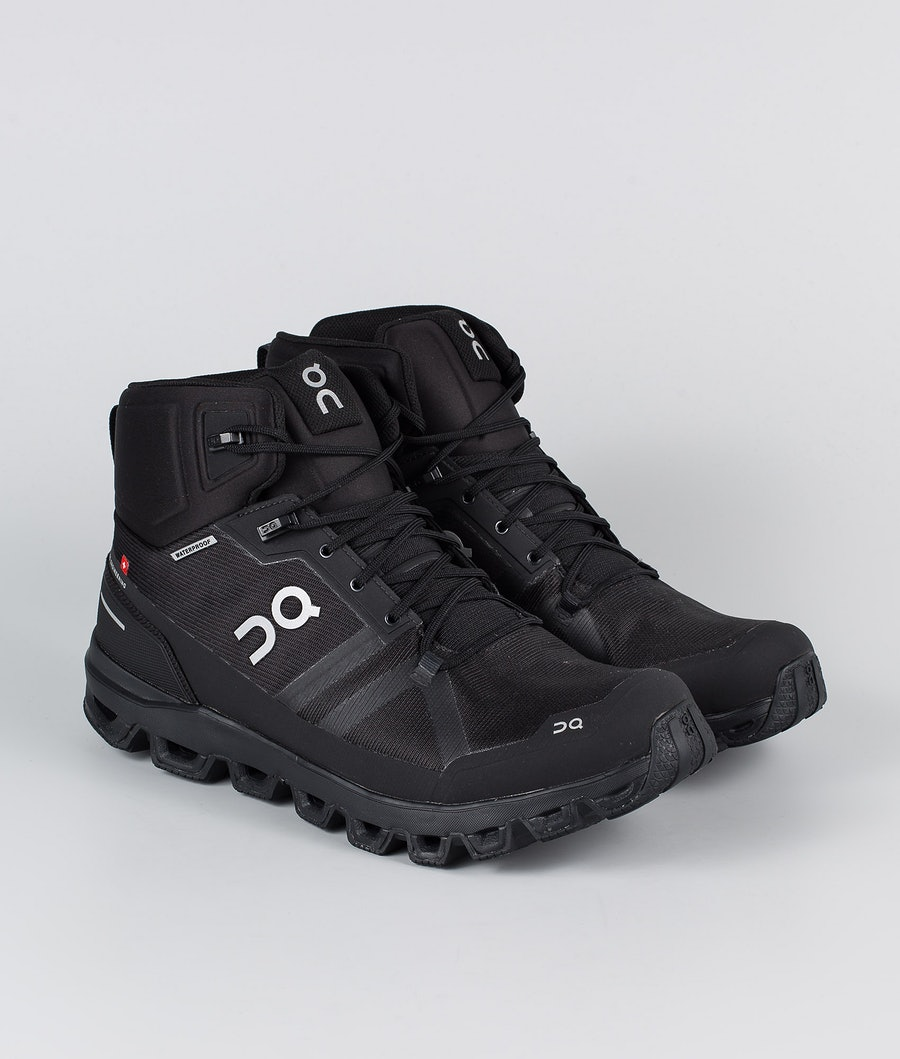 On Shoes Cloudrock Waterproof Chaussures All Black