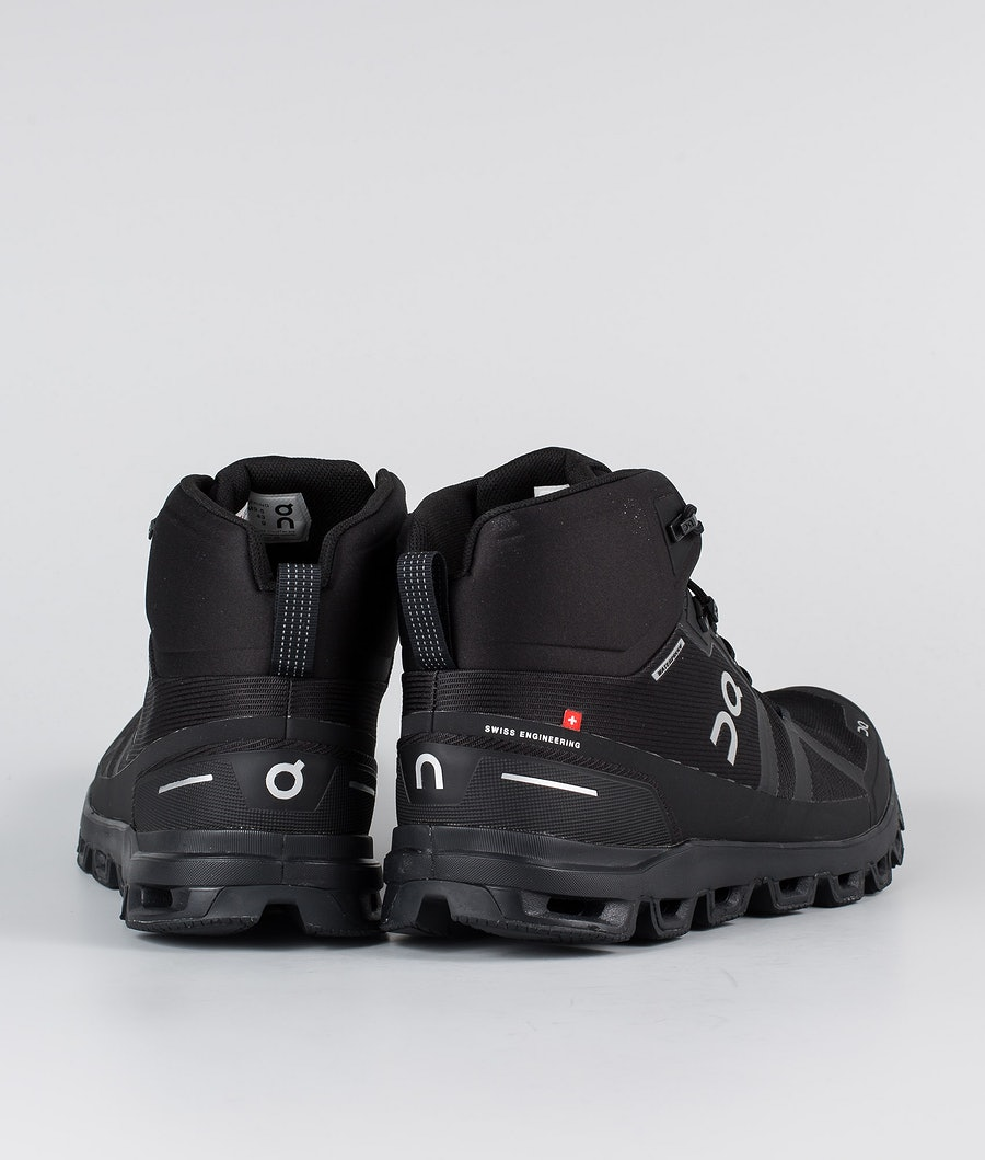 On Shoes Cloudrock Waterproof Shoes All Black