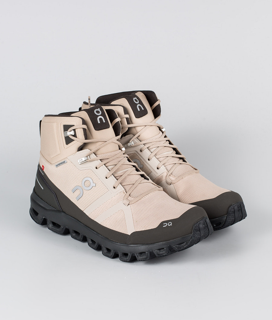 On Shoes Cloudrock Waterproof Shoes Sand/Black