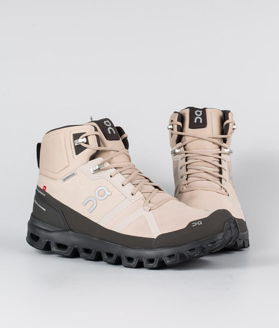 On Shoes Cloudrock Waterproof Scarpe Sand/Black