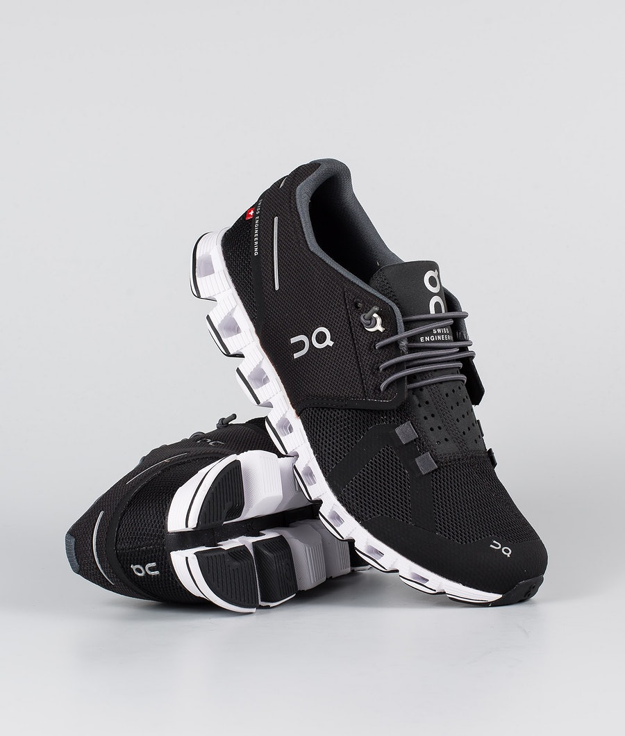 On Shoes Cloud Sko Black/White