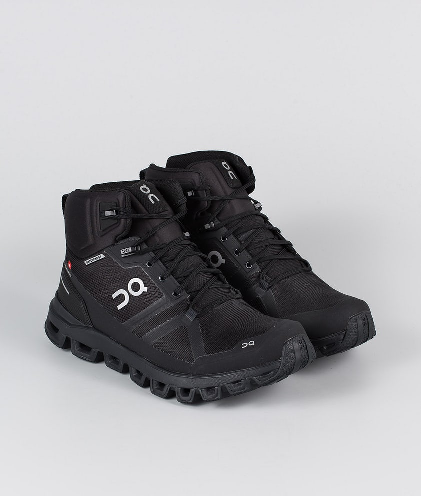On Shoes W Cloudrock Waterproof Shoes All Black