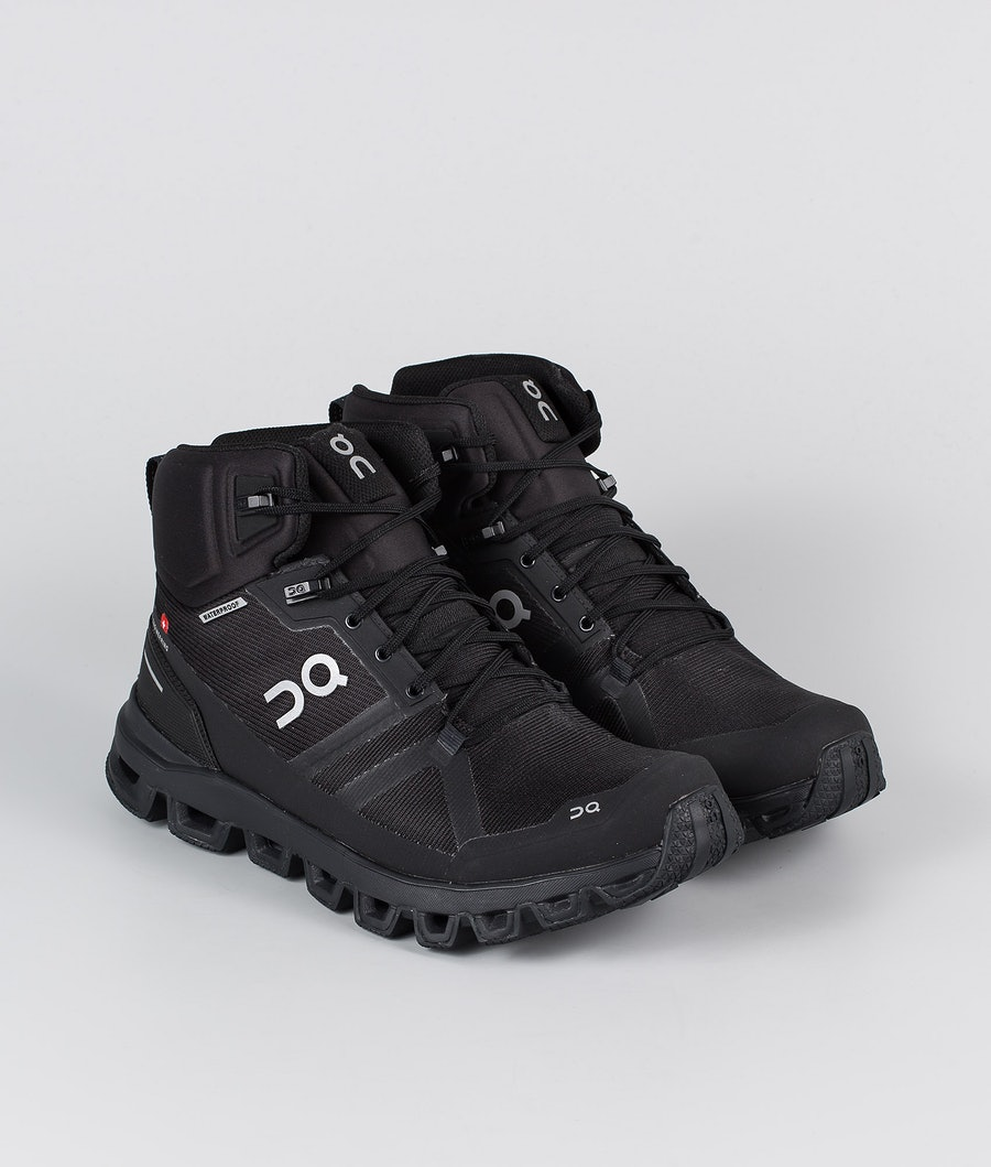 On Shoes W Cloudrock Waterproof Sko All Black