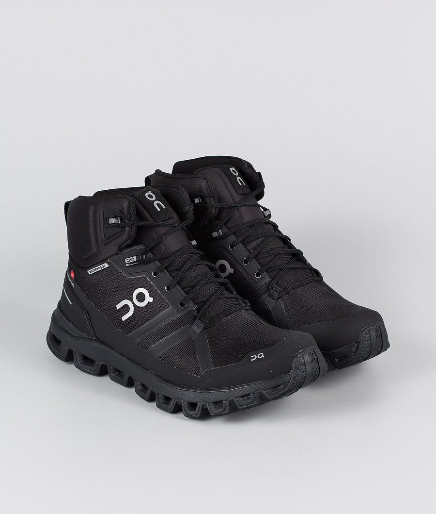 On Shoes W Cloudrock Waterproof  Skor All Black