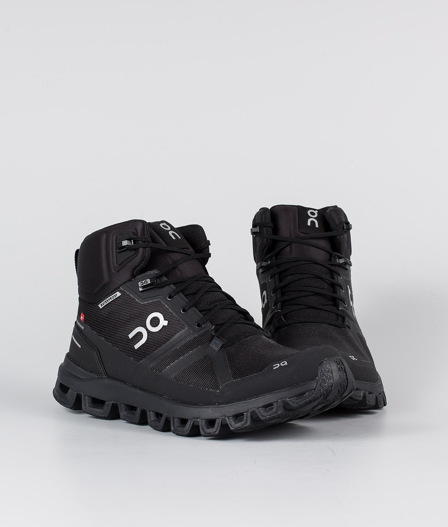 On Shoes W Cloudrock Waterproof Scarpe Donna All Black
