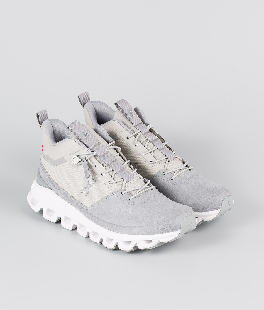 On Shoes W Cloud Hi  Skor Glacier/Grey