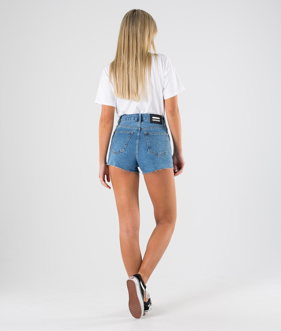 Dr Denim Skye Shorts Shorts Damen Retro Sky Blue