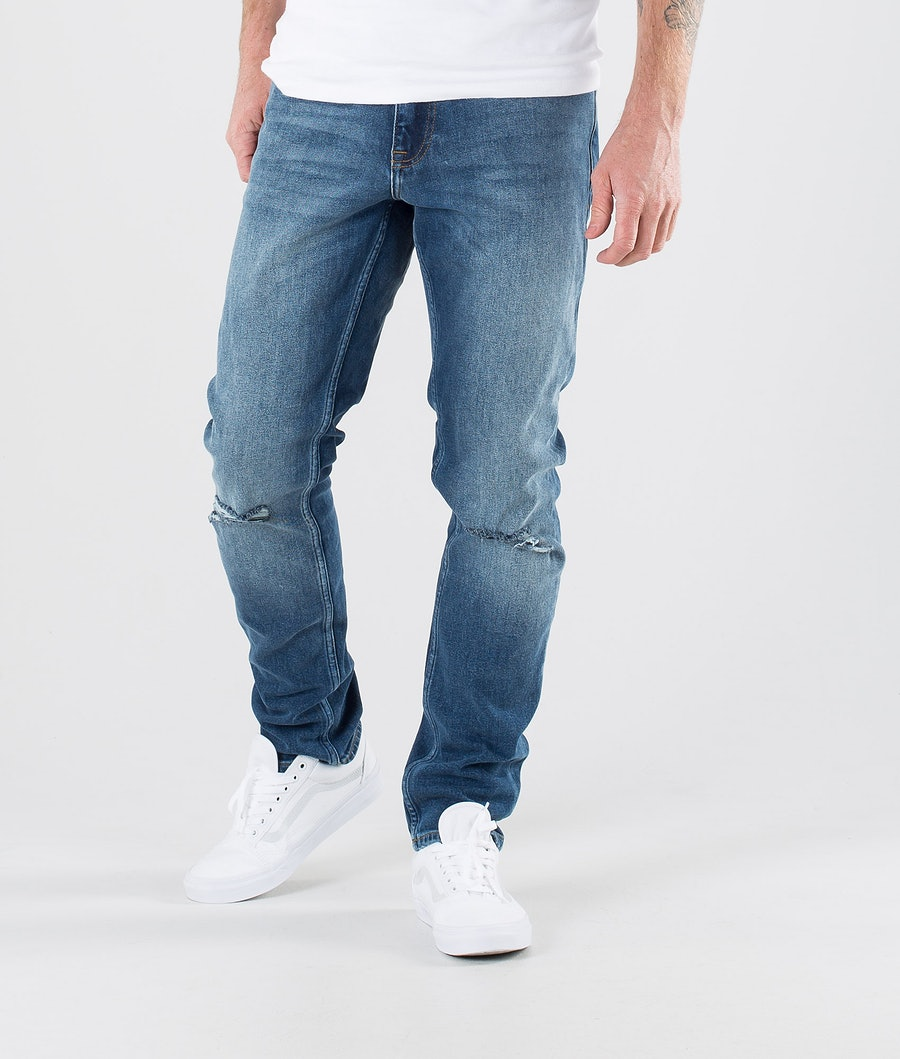 Dr Denim Clark Housut Mid Indigo Blue Ripped