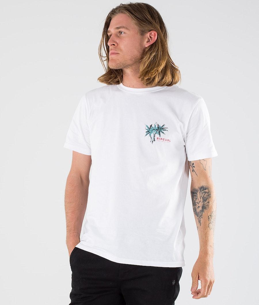 Rip Curl Party Palm Tee T-paita OPTICAL WHITE