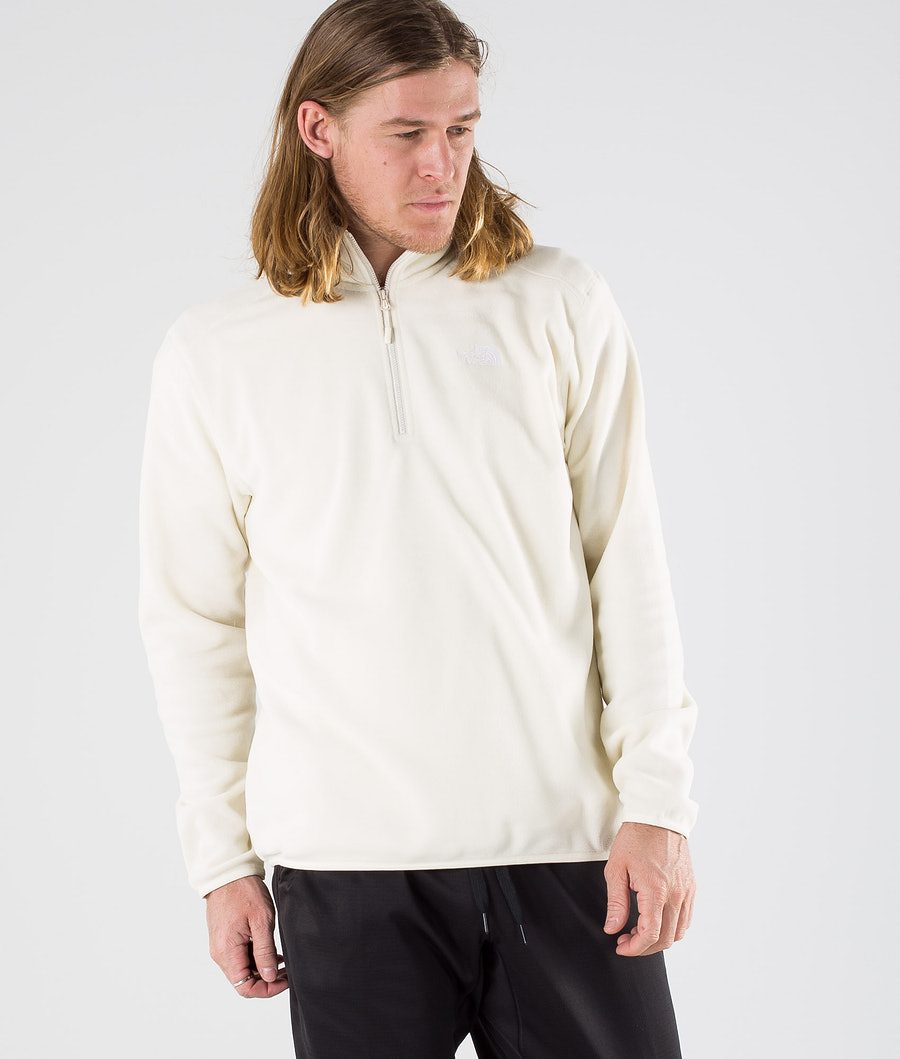 The North Face 100 Glacier 1/4 Zip Sweater Vintage White/Tnf White