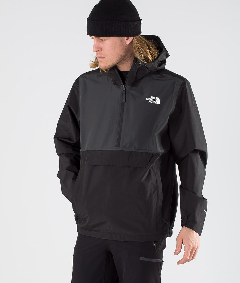 The North Face Waterproof Fanorak Rain Jacket Tnf Black