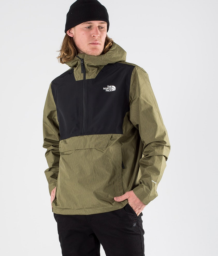The North Face Waterproof Fanorak Jacka Burnt Olive Green Rain Camo