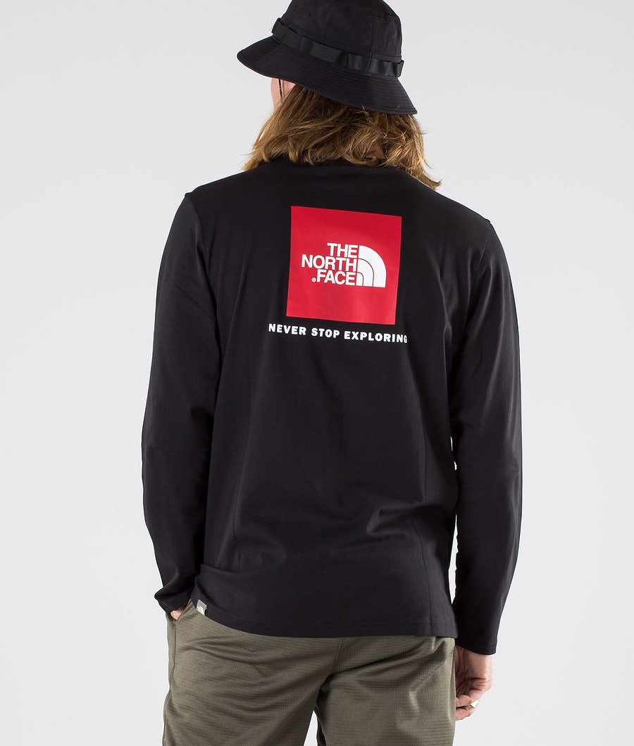 The North Face Long sleeve Red Box  Longsleeve Tnf Black