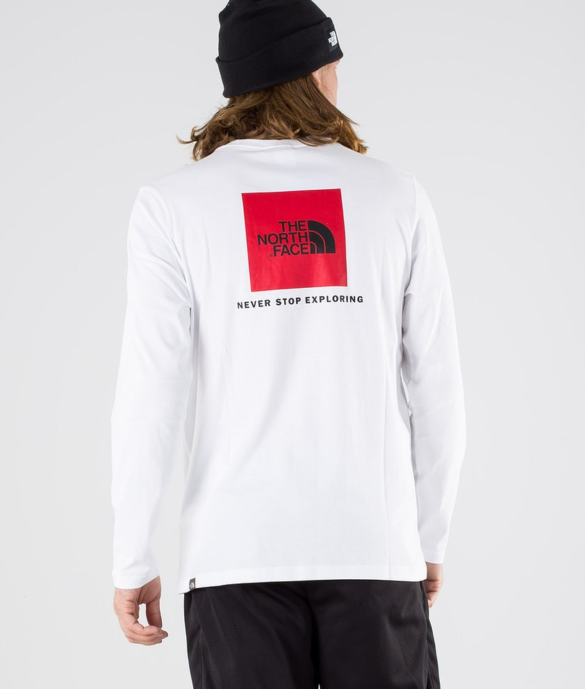 The North Face Red Box Longsleeve Tnf White