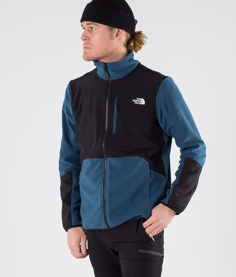 The North Face Glacier Pro Full Zip Sweater Blue Wing Teal/Tnf Black