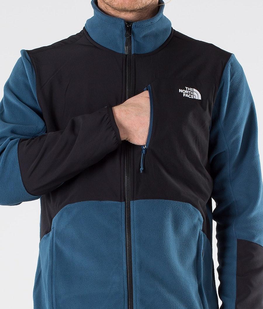 The North Face Glacier Pro Full Zip Fleecetröja Blue Wing Teal/Tnf Black