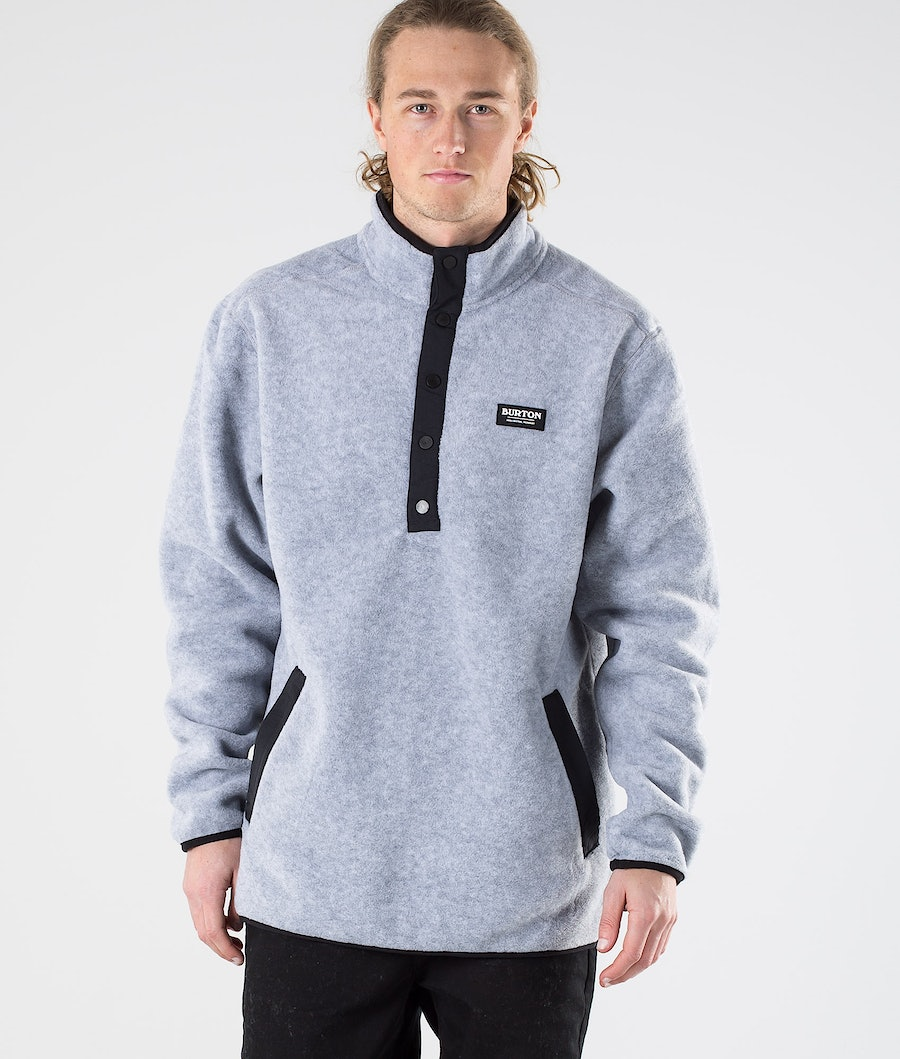 Burton Hearth Hoodie Gray Heather