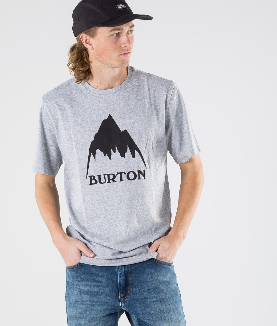 Burton Classic Mountain High T-Shirt Gray Heather