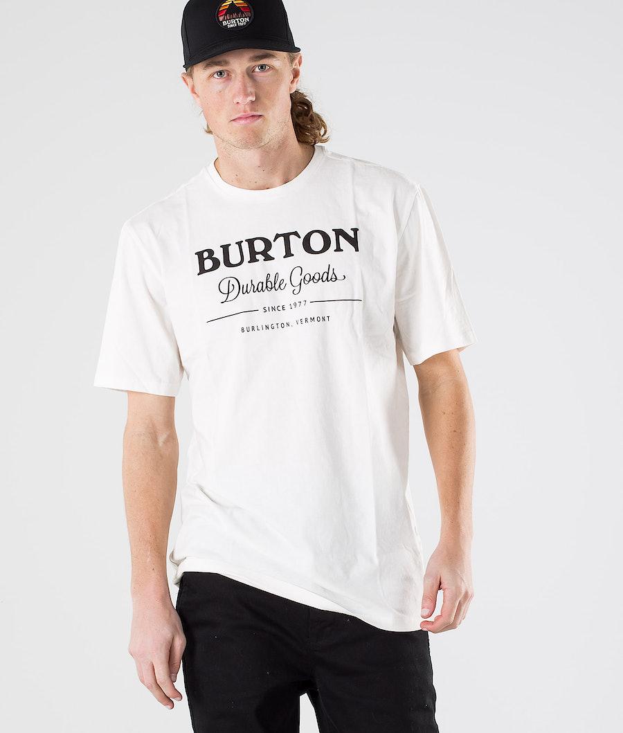 Burton Durable Goods T-paita Stout White